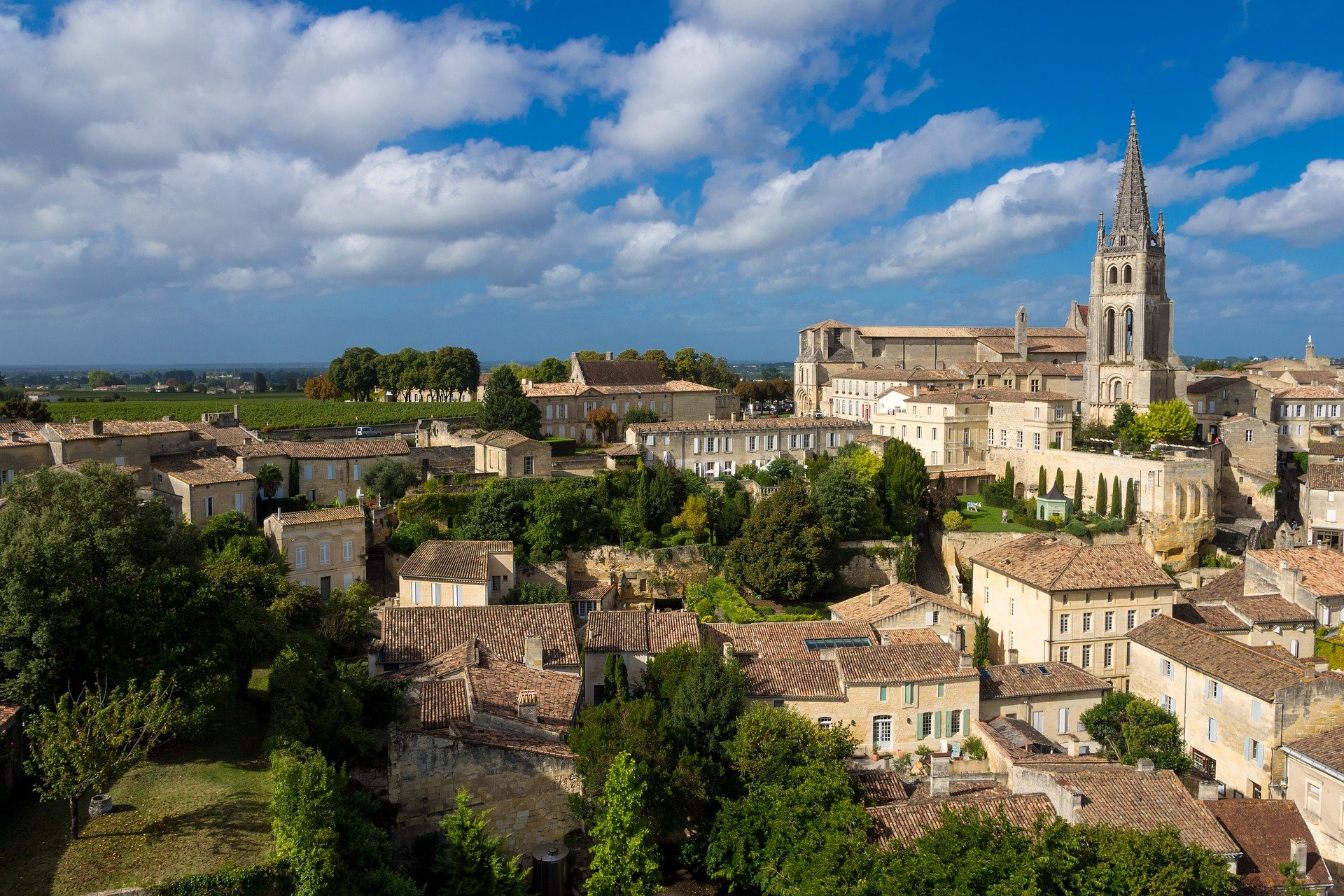 Overview of Saint Emilion Old city