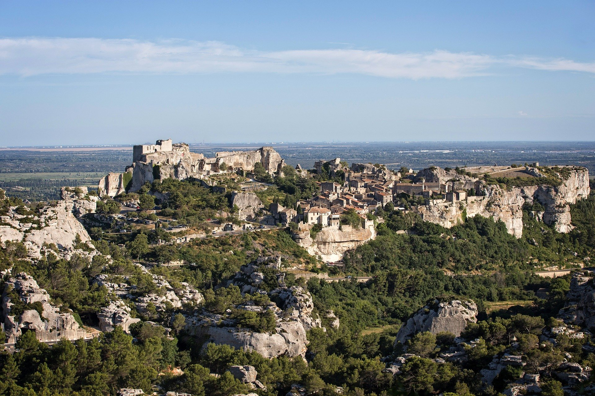 Aerial view of Baux de Provence