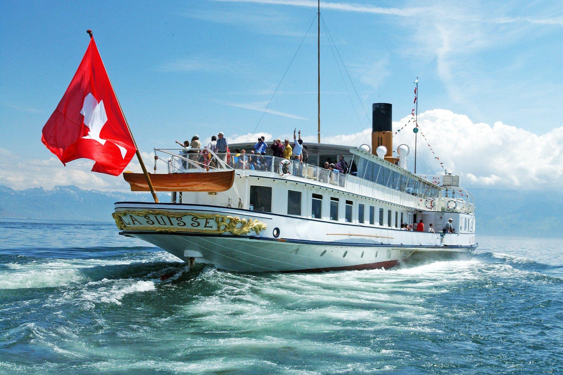 visite privée-capitaine-bateau a vapeur-Lac Léman-Suisse