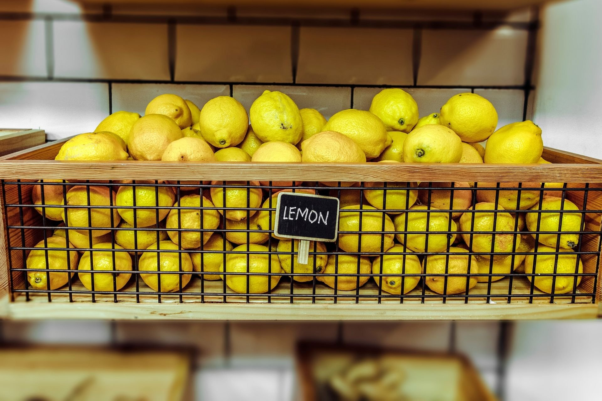 une caisse de citron de menton