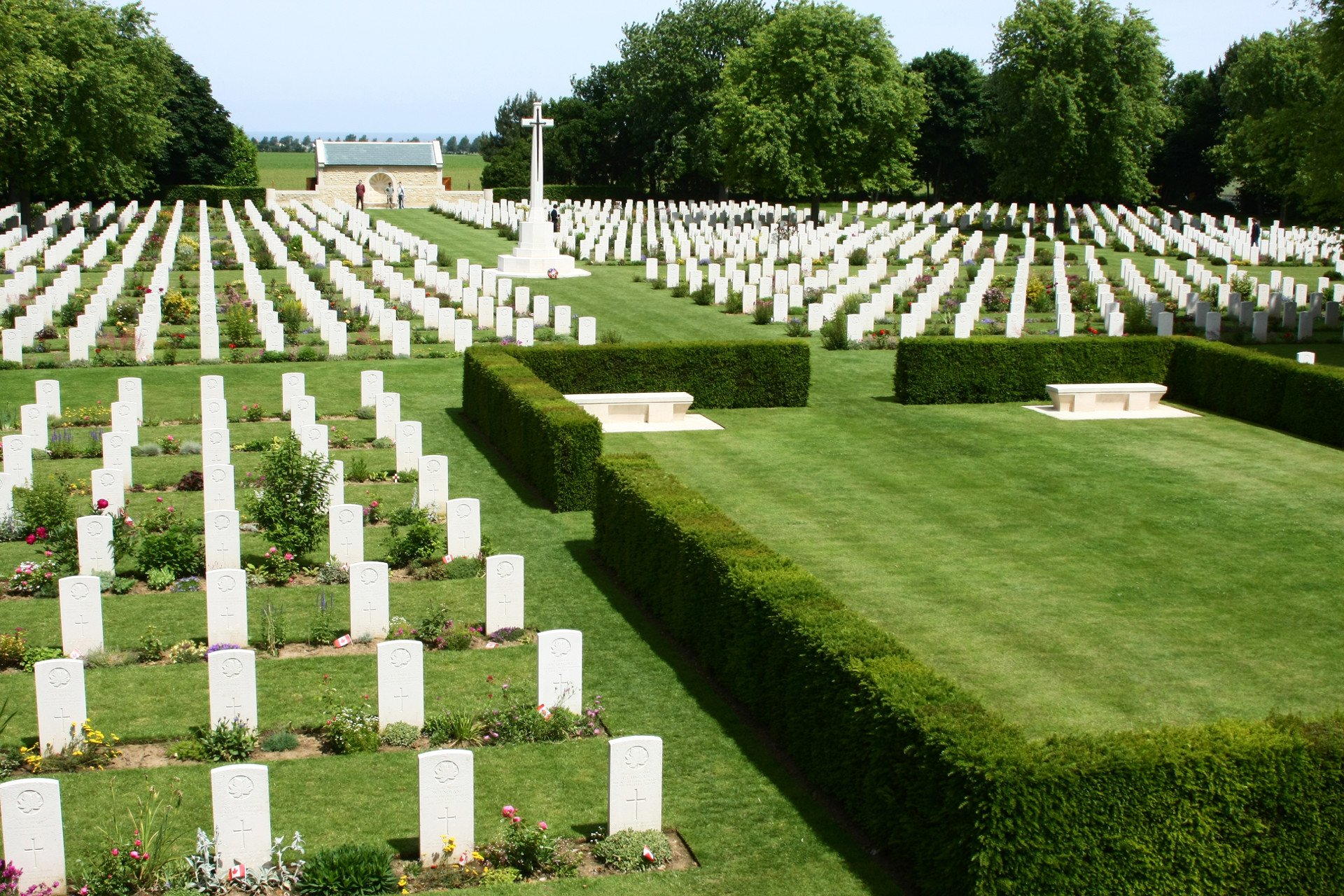 military cemetery in normandy