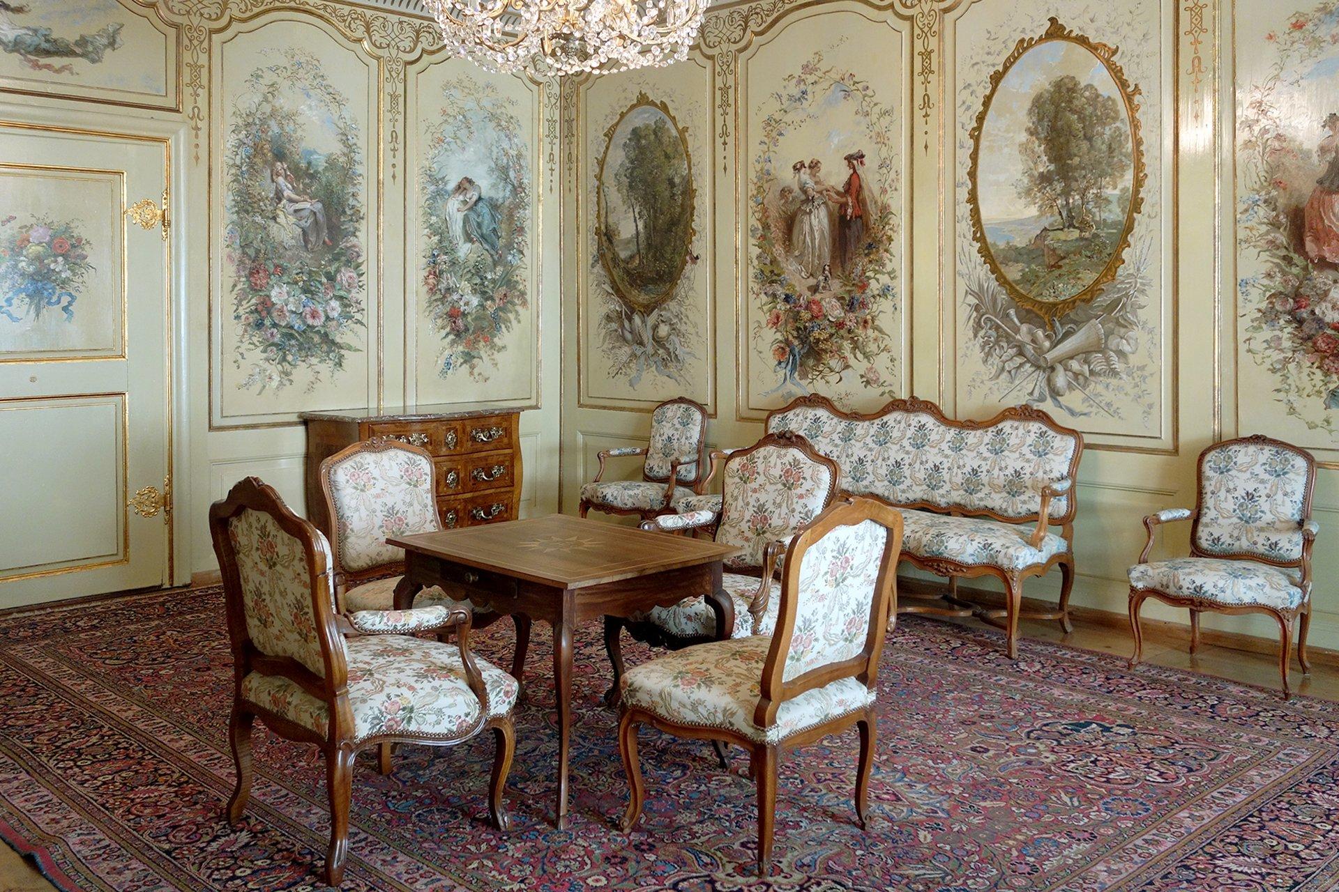 intérieur-visite privée-château de Gruyeres-Alpes suisses-Suisse