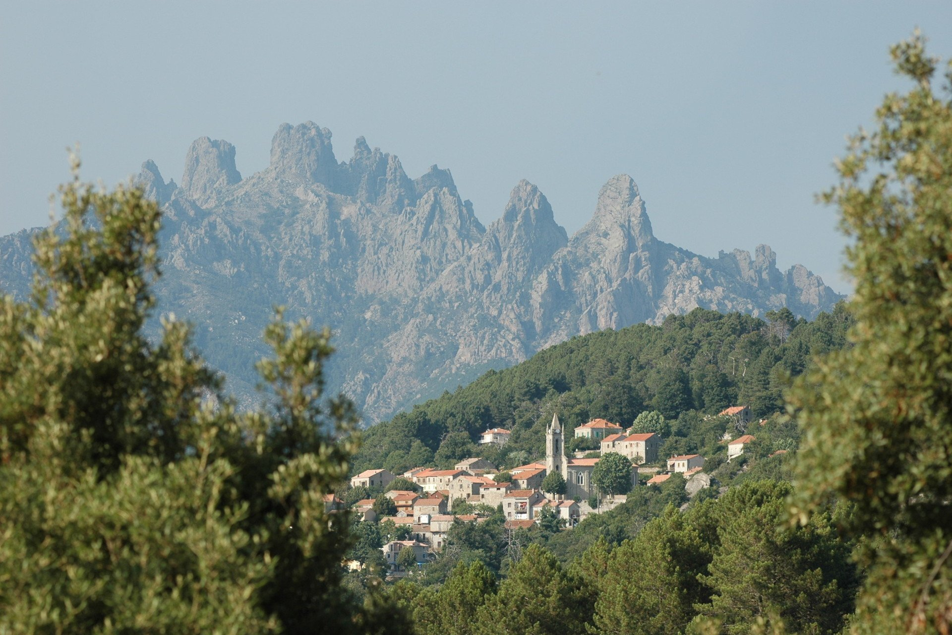 a village at the foot of the aiguille de bavella
