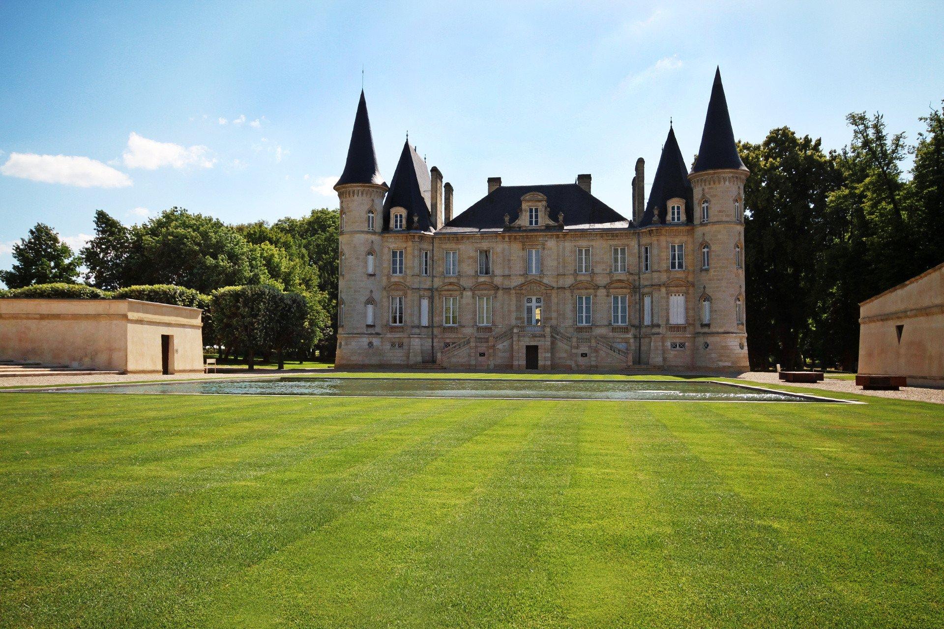 Un château sur la Route des vins dans la région de Bordeau