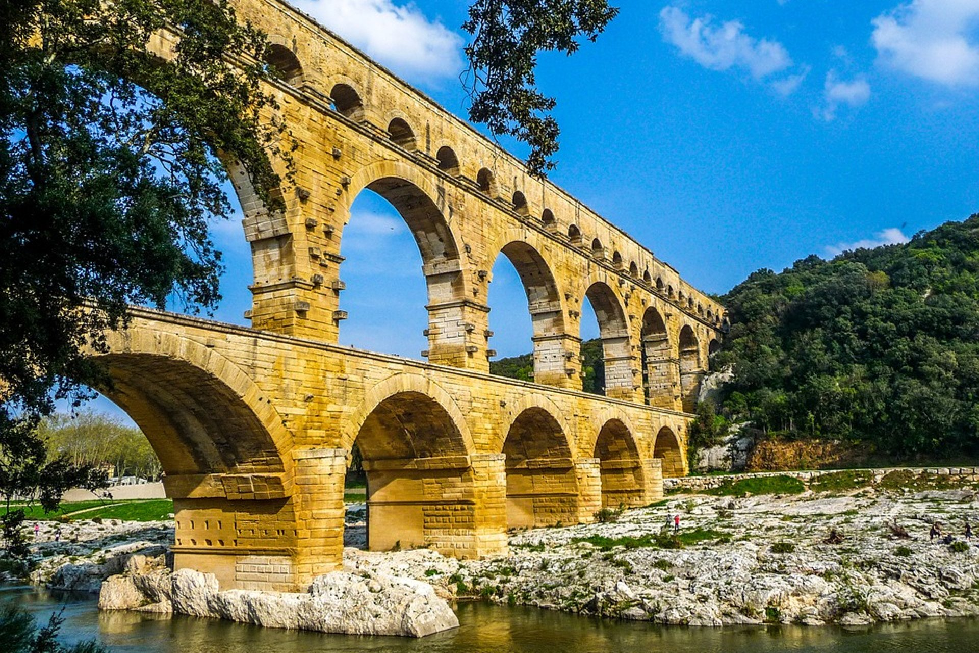 The famous Pont du Gard