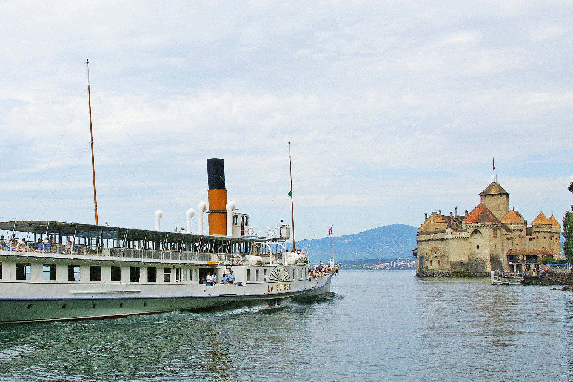 private tour-captain-steam boat-Leman Lake-Switzerland