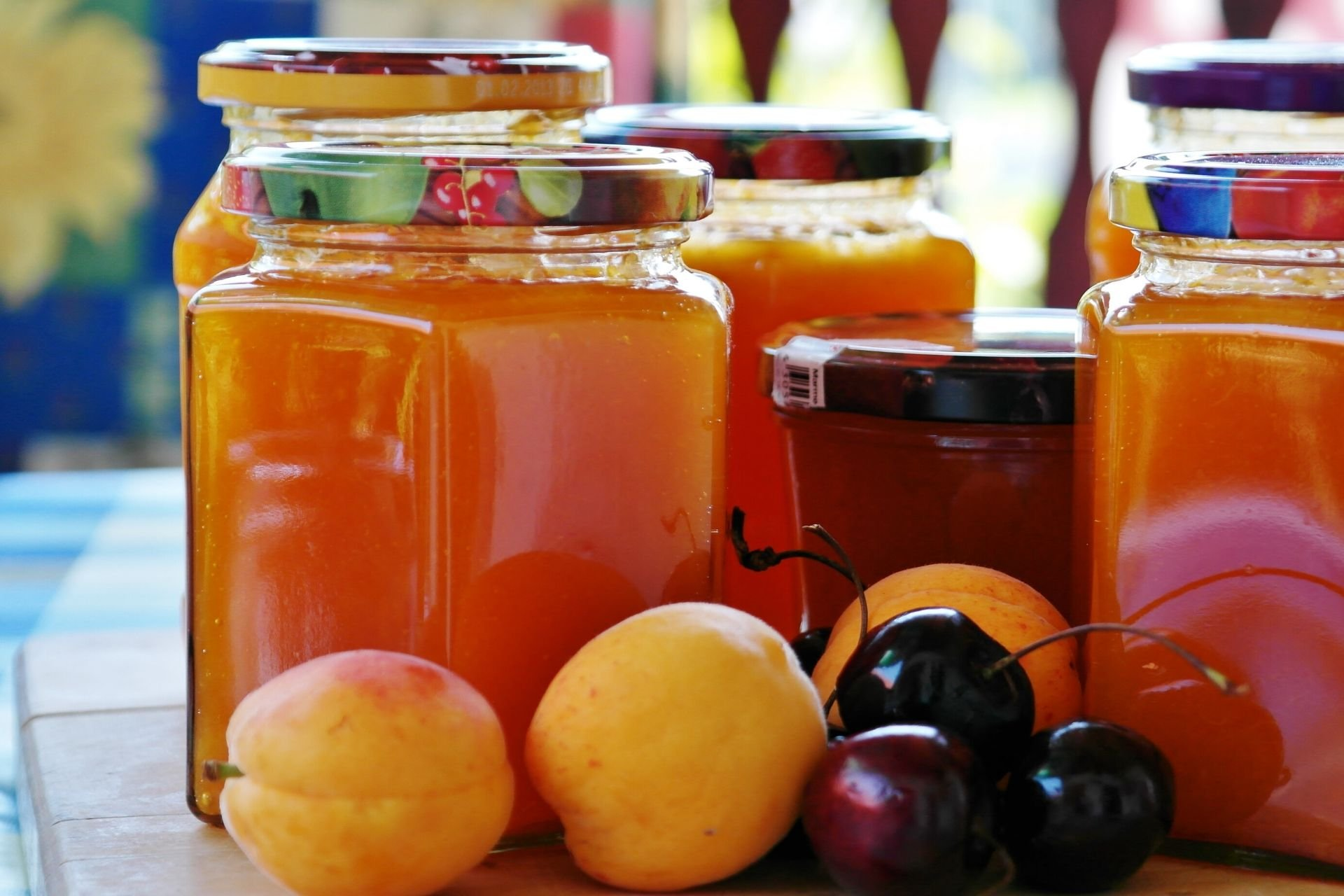 fruit jam jars
